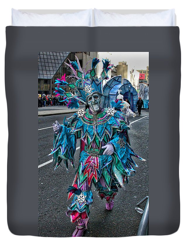 Mummer Duvet Cover featuring the photograph Snowflake Mummer by Alice Gipson
