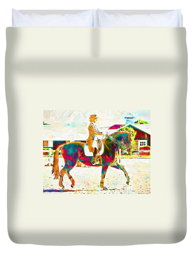 Horse Duvet Cover featuring the photograph So Many Colors by Alice Gipson