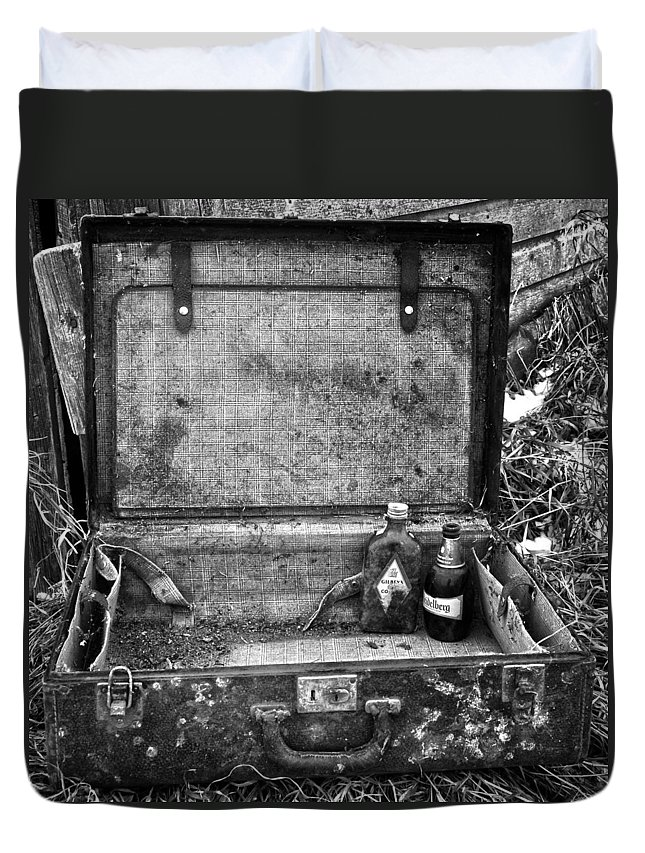 Booze Duvet Cover featuring the photograph Sober Travels by The Artist Project