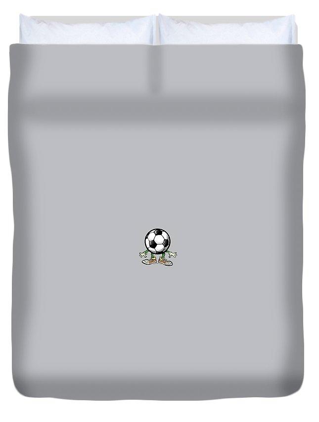 Soccer Duvet Cover featuring the digital art Soccer by Kevin Middleton