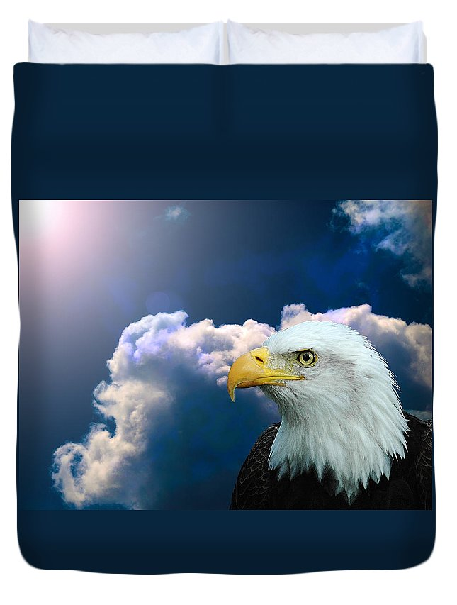 Eagle Duvet Cover featuring the digital art Social Justice by Robert Orinski