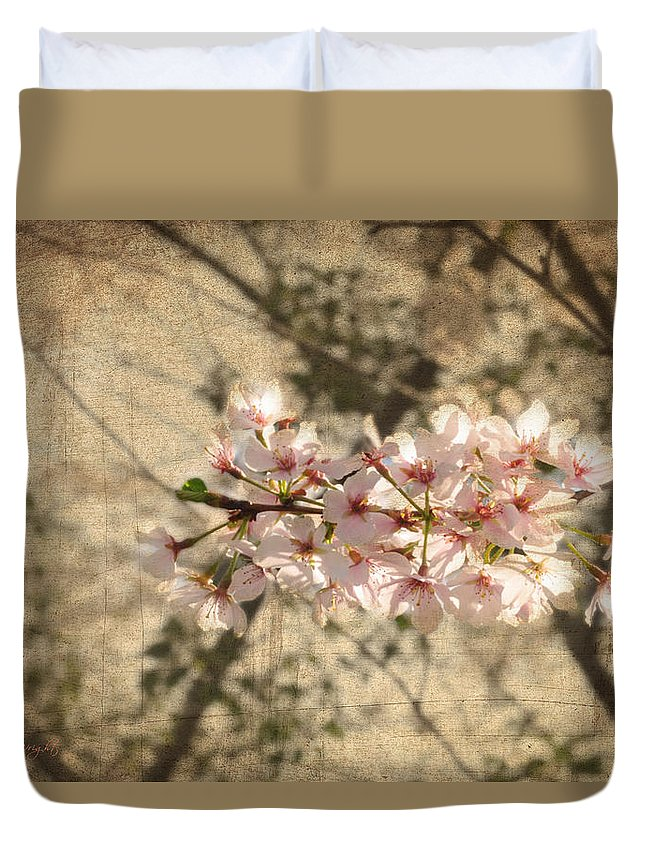 Popular Duvet Cover featuring the photograph Soft Caress Of Pink by Paulette B Wright