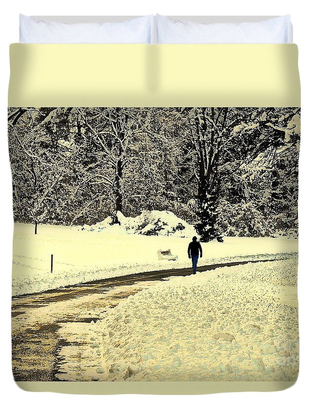 Photo Duvet Cover featuring the photograph Softly As I Leave You by Tami Quigley