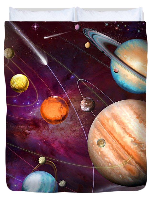 Garry Walton Duvet Cover featuring the digital art Solar System 2 by Garry Walton