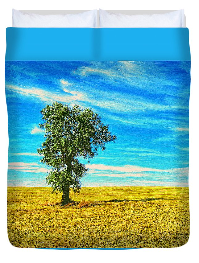 Solitario Duvet Cover featuring the painting Solitario by Dominic Piperata
