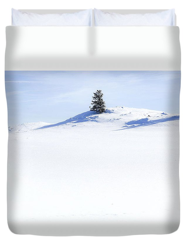 Solitary Duvet Cover featuring the photograph Solitary by Theresa Tahara