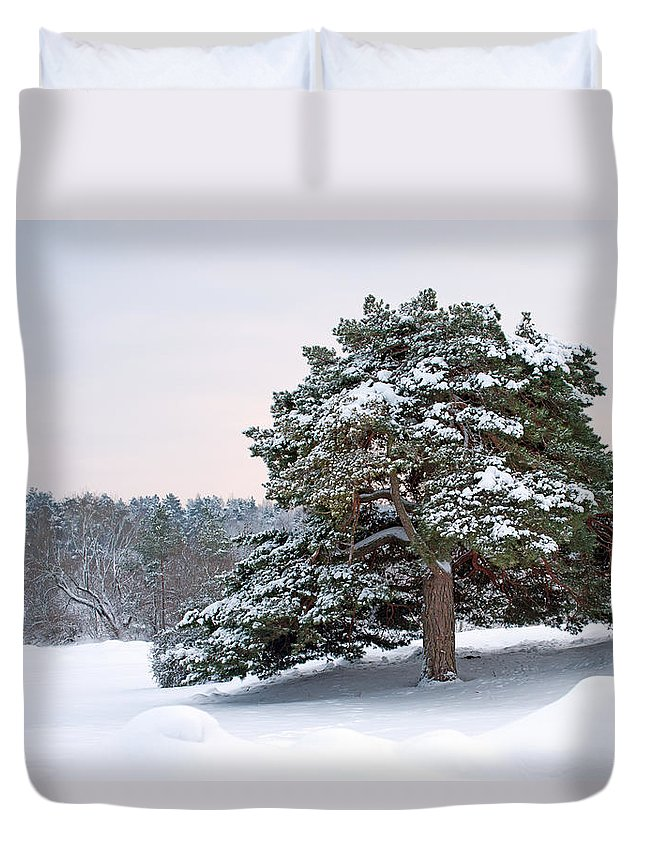 Solitude Duvet Cover featuring the photograph Solitude by Torbjorn Swenelius