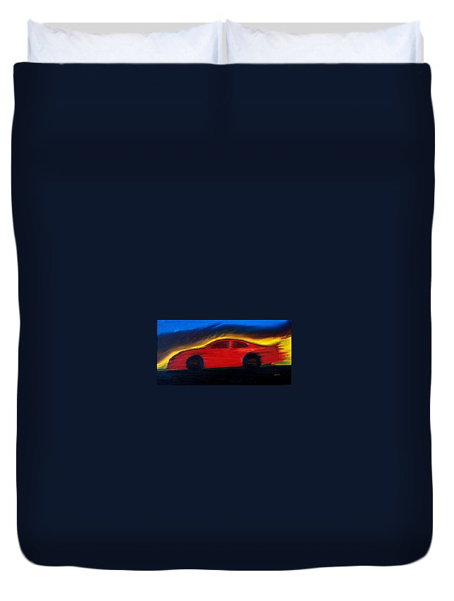 Race Duvet Cover featuring the painting Some Have Seen The Air by Stacy C Bottoms