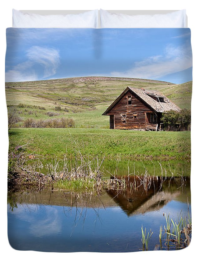 Cabin Duvet Cover featuring the photograph Somebody's Dream by Jack Bell