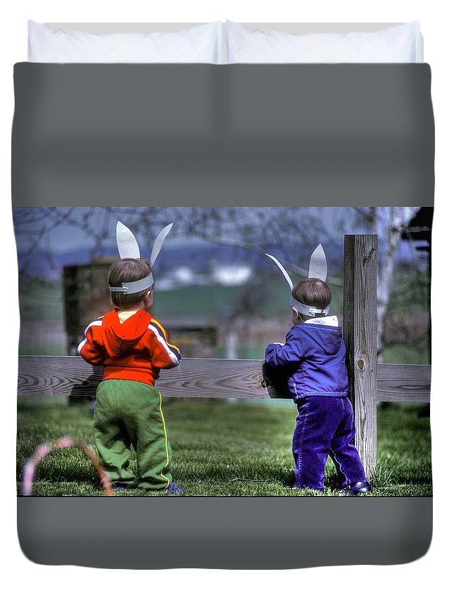 Farm Duvet Cover featuring the photograph Someday.... by Michael Mazaika