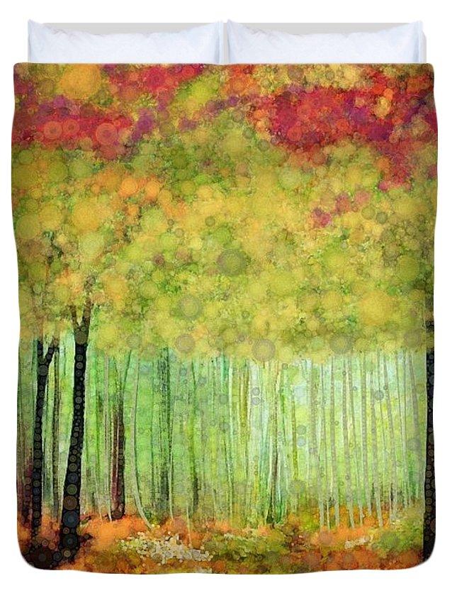 Fall Colors Digital Art Duvet Covers