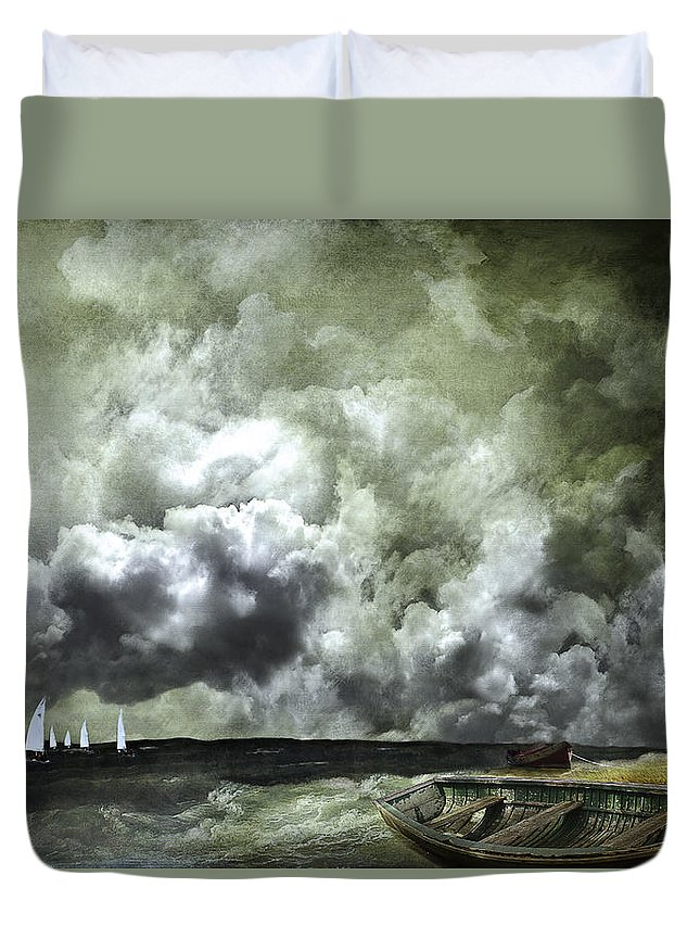 Boats Duvet Cover featuring the photograph Sometimes Your Luck Runs Out by Jeff Burgess
