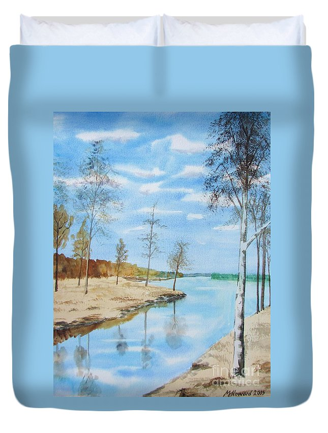 Somewhere In Dalarna Duvet Cover featuring the painting Somewhere In Dalarna by Martin Howard