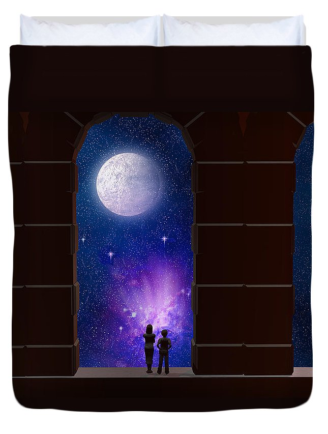 Arches Duvet Cover featuring the digital art The View To Infinity by Carol and Mike Werner