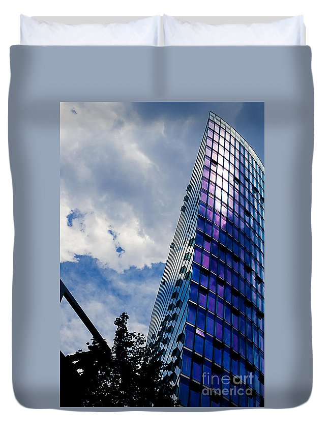 Berlin Duvet Cover featuring the photograph Sony Center In Downtown Berlin by Stephan Pietzko