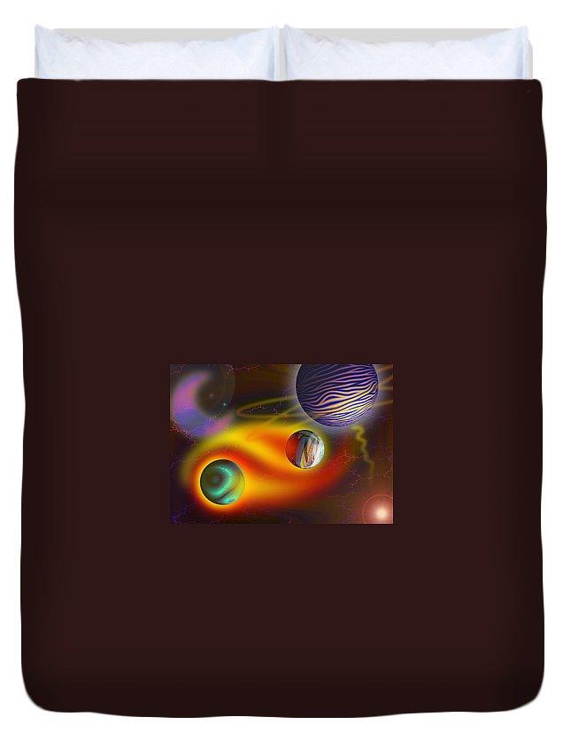 Yin Yang Duvet Cover featuring the digital art Soul Dance by Melinda Fawver