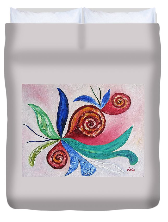 Soul Searching Duvet Cover featuring the painting Soul Searching by Marianna Mills
