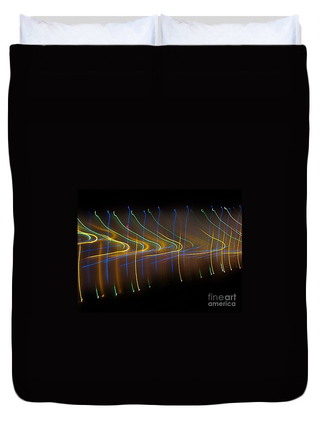 Dancing Lights Series Duvet Cover featuring the photograph Soundcloud. Dancing Lights Series by Ausra Huntington nee Paulauskaite
