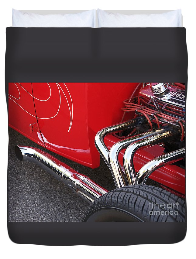 Car Duvet Cover featuring the photograph Souped Up by Ann Horn