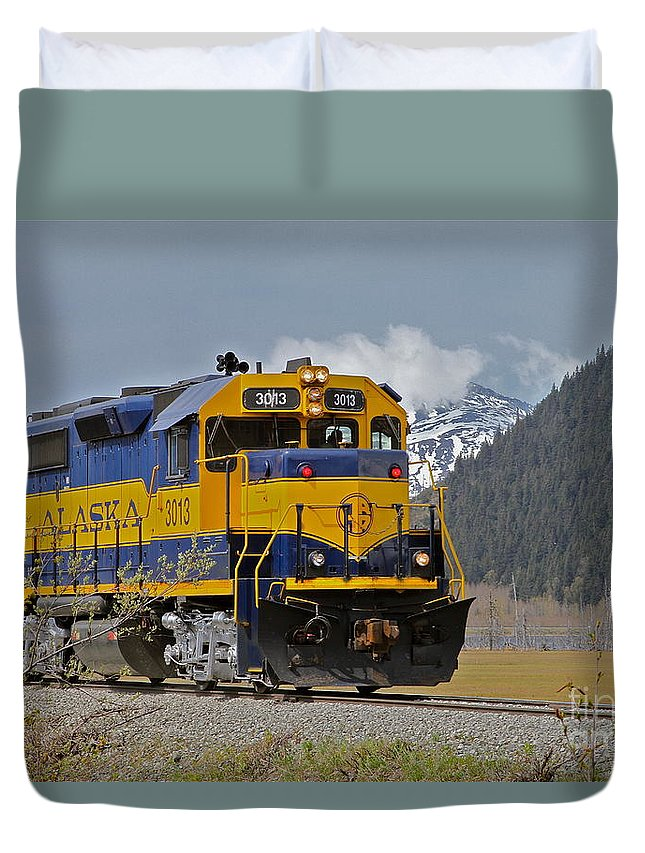 Train Duvet Cover featuring the photograph South Bound by Rick Monyahan