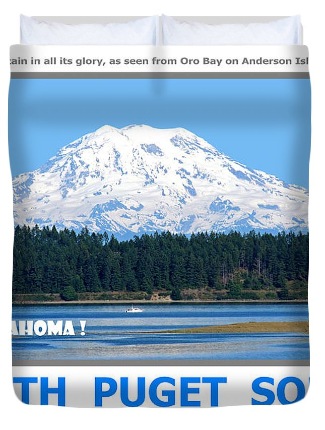 South Puget Sound Duvet Cover featuring the photograph South Puget Sound by Michael Moore