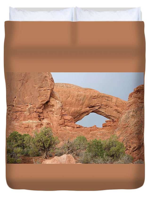 South Window Duvet Cover featuring the photograph South Window Arches National Park by Christiane Schulze Art And Photography