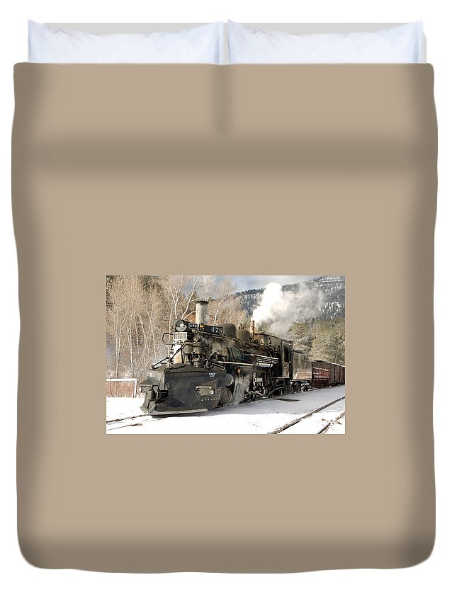 Steam Train Duvet Cover featuring the photograph Southbound Through Rockwood by Ken Smith