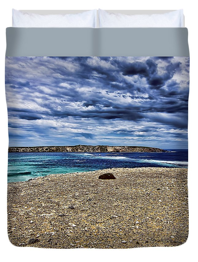 Duvet Cover featuring the photograph Southern Coastline V6 by Douglas Barnard
