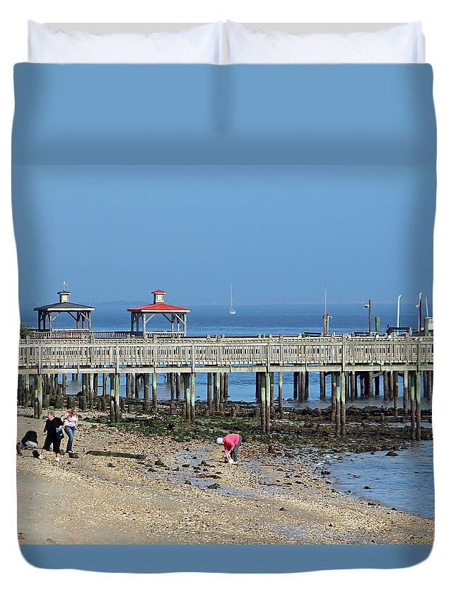 Southport Duvet Cover featuring the photograph Southport Nc by Cynthia Guinn
