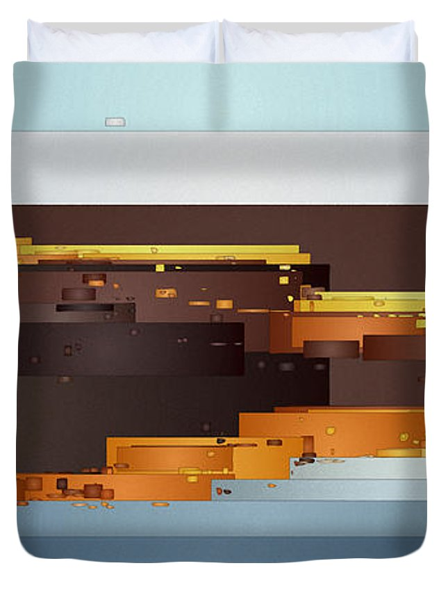 Digital Duvet Cover featuring the digital art Southwest Sunrise 1 by David Hansen