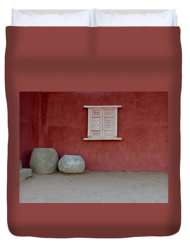 Southwest Duvet Cover featuring the photograph Southwest Window by Alan Socolik