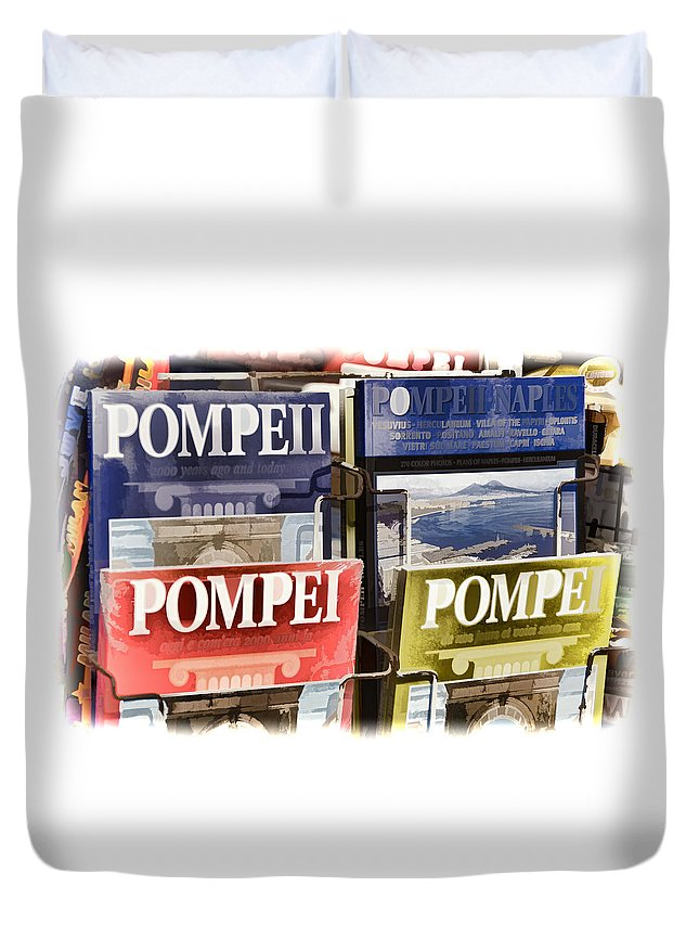 Pompei Duvet Cover featuring the photograph Souvenirs Of Pompei by Jon Berghoff