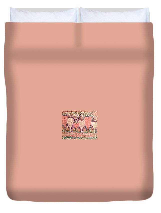 Thank You Greeting Card Duvet Cover featuring the painting Sow A Seed Of Kindness Greeting Card by Jacqui Hawk