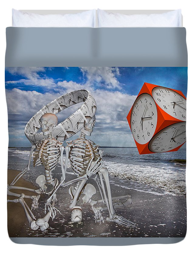 Doctor's Duvet Cover featuring the digital art Spacexmatterxtimexx by Betsy Knapp
