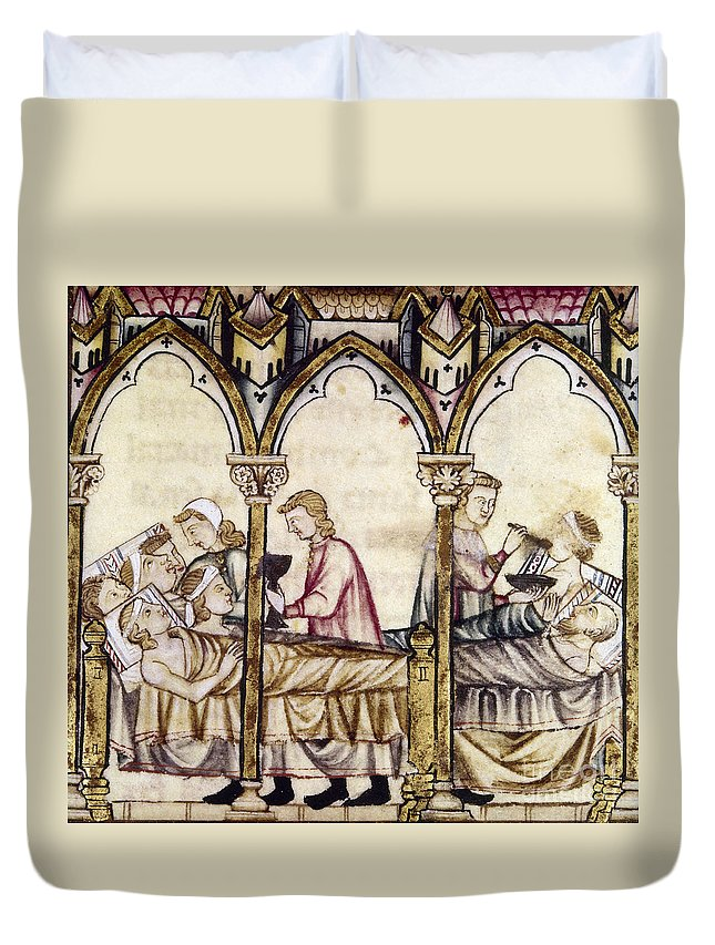 13th Century Duvet Cover featuring the photograph Spain: Medieval Hospital by Granger