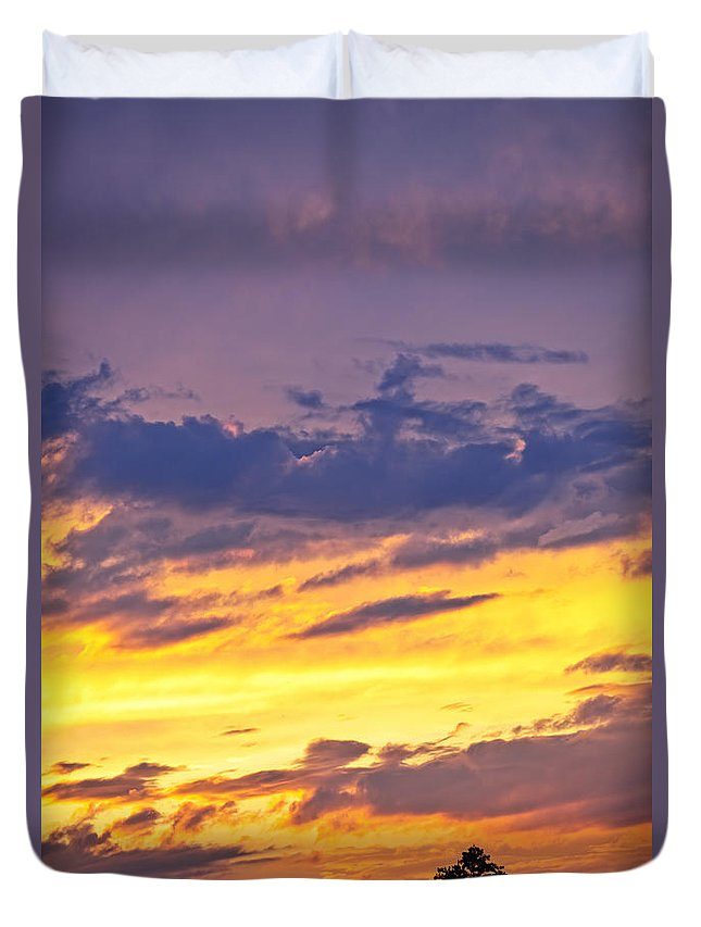 Sunset Duvet Cover featuring the photograph Spectacular Sunset by Elena Elisseeva
