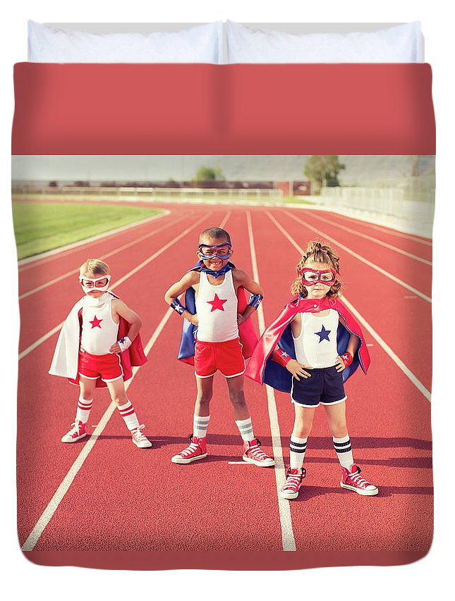 4-5 Years Duvet Cover featuring the photograph Speed Training by Richvintage