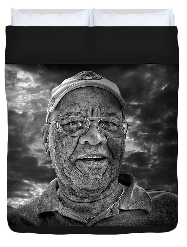 Duvet Cover featuring the photograph Spencer by John Herzog