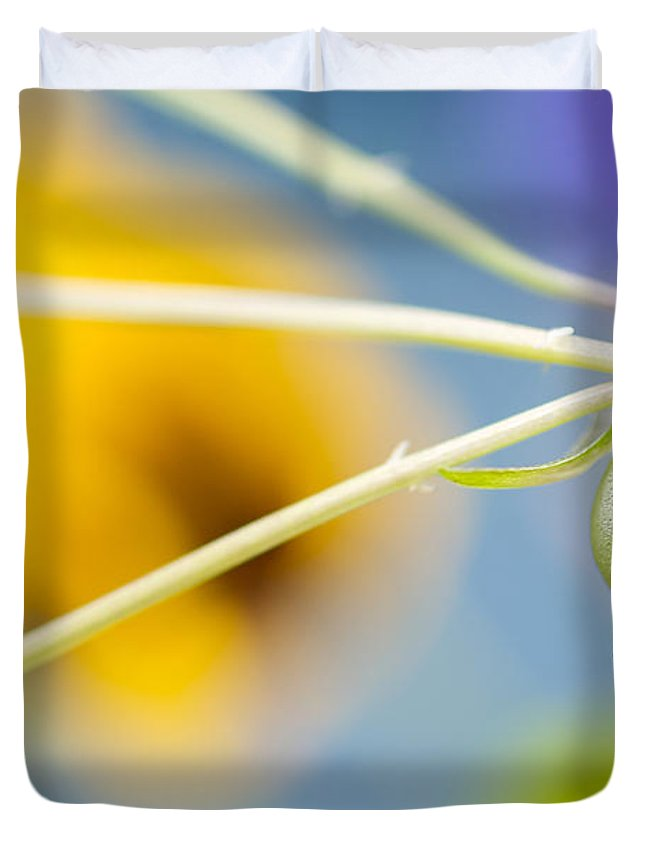 Pansies Duvet Cover featuring the photograph Spent by Lisa Knechtel
