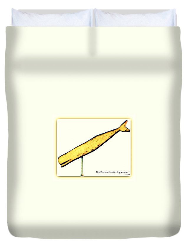 Massachusetts Duvet Cover featuring the photograph Sperm Whale Weathervane by Kathy Barney