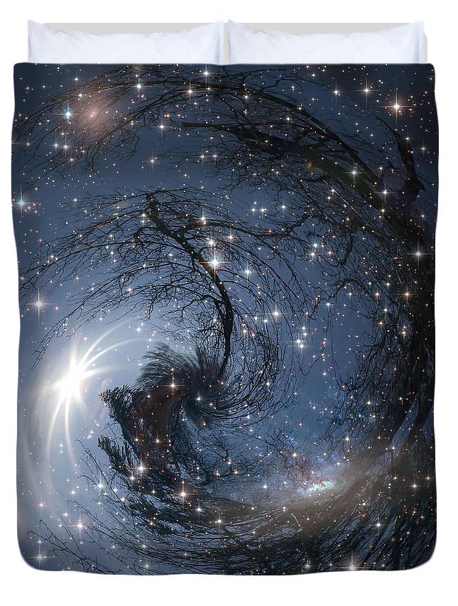 Art Duvet Cover featuring the photograph Sphere Of Reality by Michele Cornelius