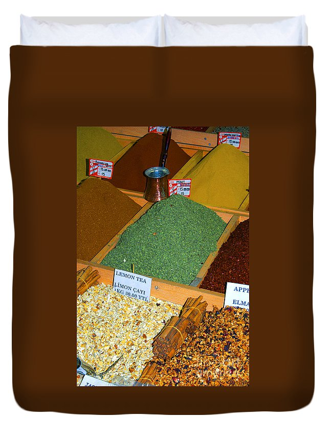Spice Bazaar Duvet Cover featuring the photograph Spice Bar by Bob Phillips
