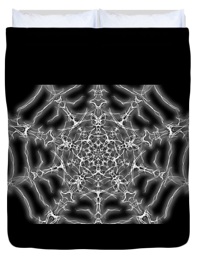 Abstract Duvet Cover featuring the digital art Spider Web by April Patterson