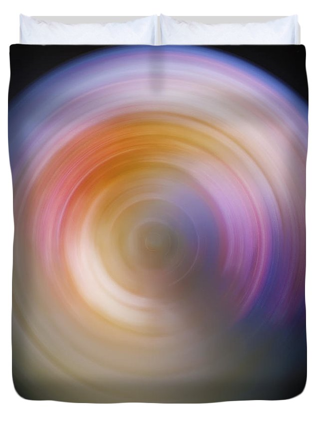 Universe Duvet Cover featuring the photograph Spin Art 2 by Jennifer Rondinelli Reilly - Fine Art Photography
