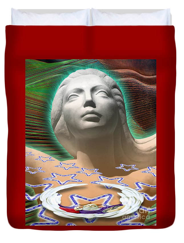 Mother Duvet Cover featuring the digital art Spirit Mother by Keith Dillon