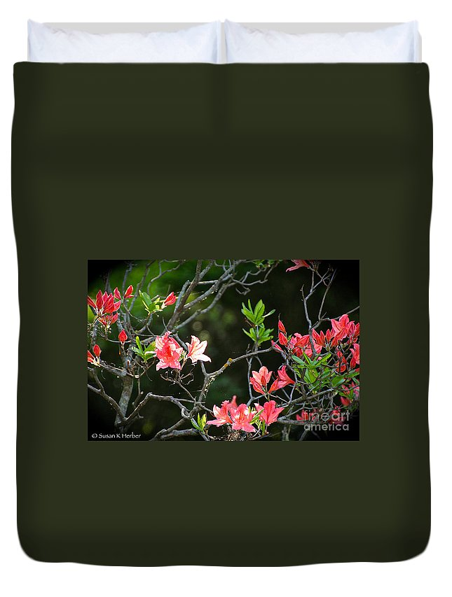 Flower Duvet Cover featuring the photograph Spiritual by Susan Herber