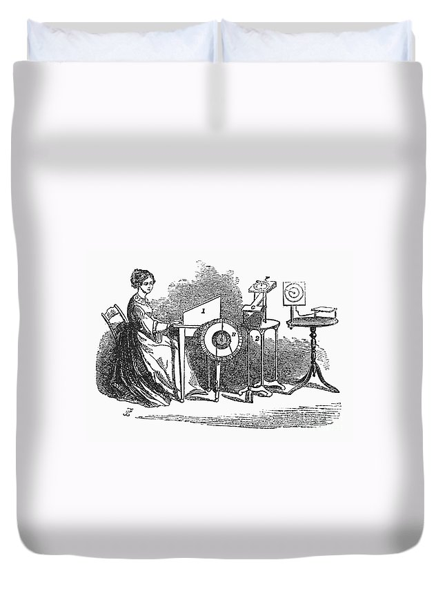 1855 Duvet Cover featuring the photograph Spiritualism, 1855 by Granger