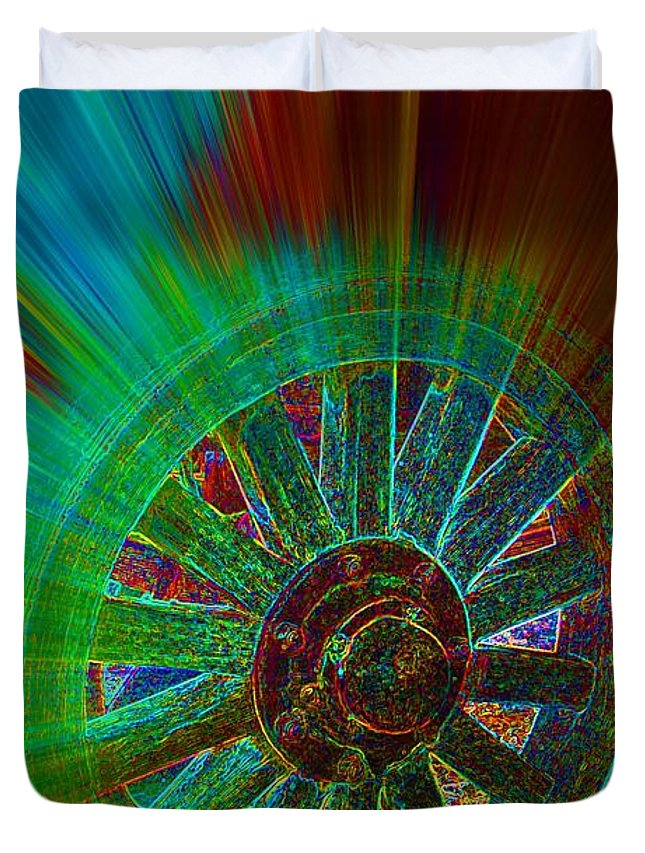 Spoken For Duvet Cover featuring the digital art Spoken For by Lorles Lifestyles