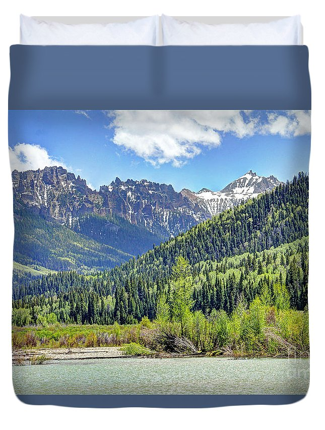 Colorado Duvet Cover featuring the photograph Spring At Silver Jack by Bob Hislop