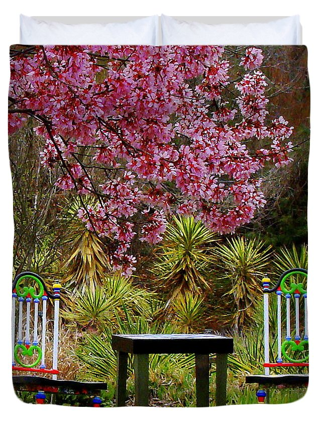 Fine Art Duvet Cover featuring the photograph Spring Begins In Wonderland by Rodney Lee Williams